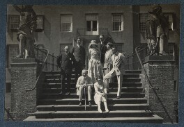 Lady Ottoline Morrell; Julian Vinogradoff (née Morrell); Philip Edward Morrell and others, by Unknown photographer - NPG Ax142139