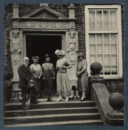 Lady Ottoline Morrell; Julian Vinogradoff (née Morrell) and others, possibly by Philip Edward Morrell - NPG Ax142140