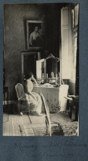 Lady Ottoline Morrell ('Mummy in her bedroom at Amerongen'), by Lady Ottoline Morrell - NPG Ax142145