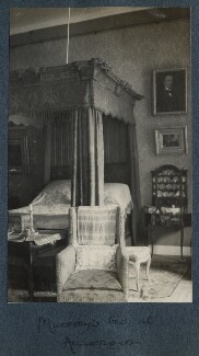 'Mummy's bed at Amerongen', by Lady Ottoline Morrell - NPG Ax142147