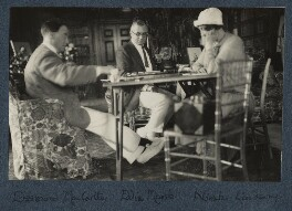 Sir Desmond MacCarthy; Sir Edward Howard Marsh; Norah Mary Madeleine Lindsay (née Bourke), by Lady Ottoline Morrell, 1925 - NPG Ax142191 - © National Portrait Gallery, London