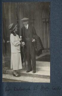 Ethel Anne Priscilla ('Ettie') Grenfell (née Fane), Lady Desborough; Hugh Richard Heathcote Gascoyne-Cecil, Baron Quickswood, by Lady Ottoline Morrell, 1925 - NPG Ax142192 - © National Portrait Gallery, London