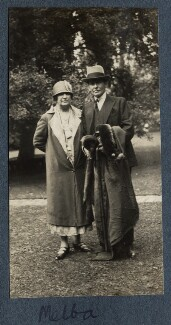 Nellie Melba and an unknown man, by Lady Ottoline Morrell - NPG Ax142197