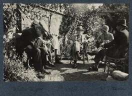 Group including Herbert Henry Asquith, 1st Earl of Oxford and Asquith, by Lady Ottoline Morrell - NPG Ax142204