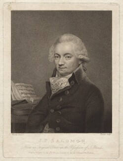 Johann Peter Salomon, by Georg Siegmund Facius, or by  Johann Gottlieb Facius, after  Thomas Hardy - NPG D21105