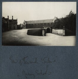 'View of tunnel leading to the riding school, Welbeck', by Lady Ottoline Morrell - NPG Ax142337