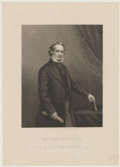 Edward Stanley, 14th Earl of Derby, by Daniel John Pound, after  John Jabez Edwin Mayall - NPG D21122