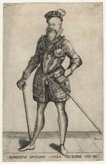 Robert Dudley, 1st Earl of Leicester, by Christoffel van Sichem (Voschem), 1580s? - NPG D21135 - © National Portrait Gallery, London