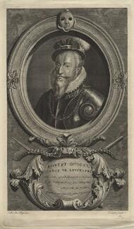 Robert Dudley, 1st Earl of Leicester, by Cornelis Martinus Vermeulen, after  Adriaen van der Werff - NPG D21152