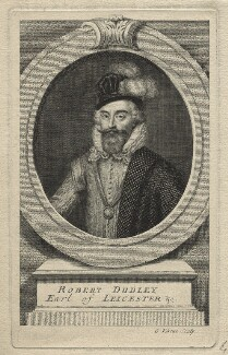 Robert Dudley, 1st Earl of Leicester, by George Vertue - NPG D21158