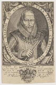 Sir Walter Ralegh (Raleigh) (Raleigh), by Simon de Passe, published by  Compton Holland - NPG D21166