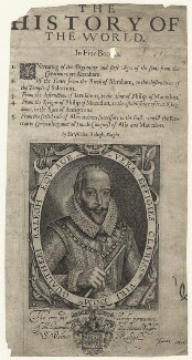 Sir Walter Ralegh (Raleigh) (Raleigh), by Simon de Passe, published by  Compton Holland - NPG D21167