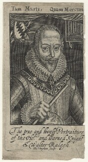 Sir Walter Ralegh (Raleigh) (Raleigh), by Robert Vaughan, after  Simon de Passe - NPG D21170