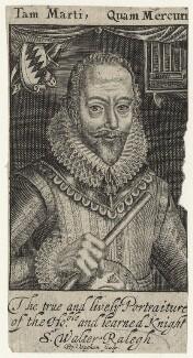 Sir Walter Ralegh (Raleigh), by Robert Vaughan, after  Simon de Passe - NPG D21171