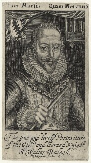 Sir Walter Ralegh (Raleigh), by Robert Vaughan, after  Simon de Passe, published 1650 (1617) - NPG D21172 - © National Portrait Gallery, London