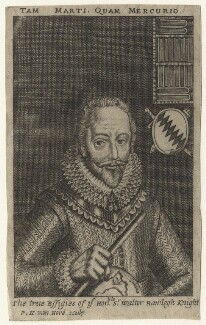 Sir Walter Ralegh (Raleigh), by Frederick Hendrik van Hove, after  Simon de Passe - NPG D21175