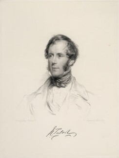 John Chetwynd Talbot, by William Holl Jr, after  George Richmond - NPG D20640