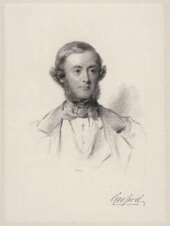 Archibald Acheson, 3rd Earl of Gosford, by William Holl Jr, after  George Richmond - NPG D20642