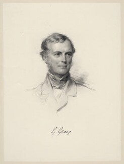 Sir George Grey, 2nd Bt, by William Holl Jr, after  George Richmond - NPG D20646