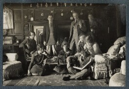 Philip and Julian Morrell with friends at Garsington, by Lady Ottoline Morrell - NPG Ax142411