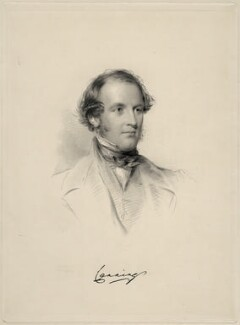Charles John Canning, Earl Canning, by William Holl Jr, after  George Richmond - NPG D20651
