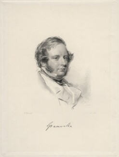 Granville George Leveson-Gower, 2nd Earl Granville, by William Holl Jr, after  George Richmond - NPG D20652