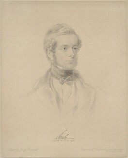 Henry Pelham Fiennes Pelham-Clinton, 5th Duke of Newcastle-under-Lyne, by Frederick Christian Lewis Sr, after  George Richmond - NPG D20653