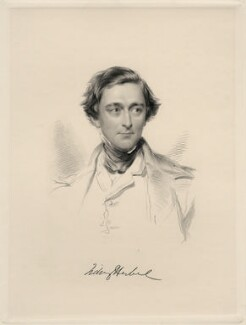 Sidney Herbert, 1st Baron Herbert of Lea, by William Holl Jr, after  George Richmond - NPG D20654