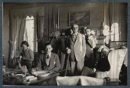Philip and Julian Morrell with friends at Garsington, by Lady Ottoline Morrell - NPG Ax142413