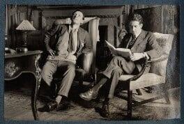 Siegfried Sassoon; Walter James Redfern Turner, by Lady Ottoline Morrell - NPG Ax142423