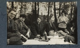 Philip and Julian Morrell with friends, by Lady Ottoline Morrell - NPG Ax142494