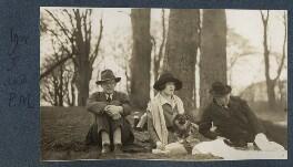 Igor Vinogradoff; Julian Vinogradoff (née Morrell); Philip Edward Morrell, by Lady Ottoline Morrell - NPG Ax142495