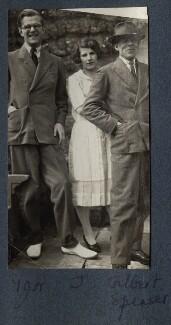 Igor Vinogradoff; Julian Vinogradoff (née Morrell); Gilbert Spencer, by Lady Ottoline Morrell - NPG Ax142502