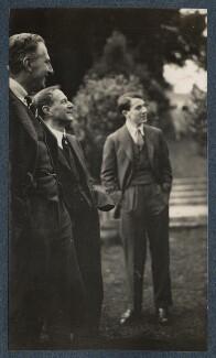 Philip Edward Morrell; Walter de la Mare; Colin de la Mare, by Lady Ottoline Morrell - NPG Ax142515
