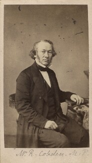 Richard Cobden, by Maujean - NPG Ax16230