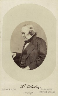 Richard Cobden, by Elliott & Fry - NPG Ax16231