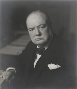 Winston Churchill, by Walter Stoneman - NPG x403