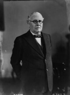 Sir (Howard) Kingsley Wood, by Walter Stoneman - NPG x8388