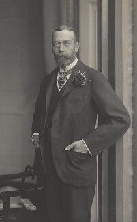 King George V, by Walter Stoneman, for  James Russell & Sons - NPG Ax39000