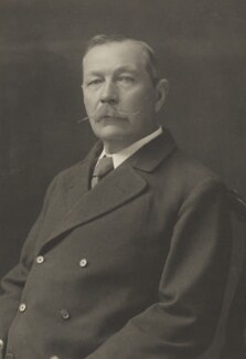 Arthur Conan Doyle, by Walter Stoneman, for  James Russell & Sons, circa 1916 - NPG Ax39223 - © National Portrait Gallery, London