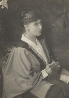 Alice Meynell (née Thompson), by Walter Stoneman, for  James Russell & Sons - NPG Ax39226