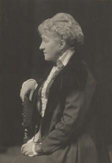 Sarah Grand (Frances Elizabeth Bellenden McFall, née Clarke), by Walter Stoneman, for  James Russell & Sons - NPG Ax39227