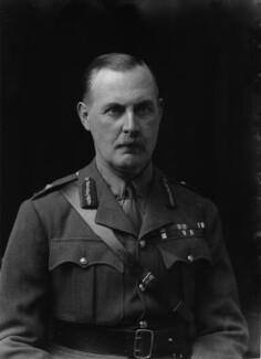 Sir George Mark Watson MacDonogh, by Walter Stoneman - NPG x43439