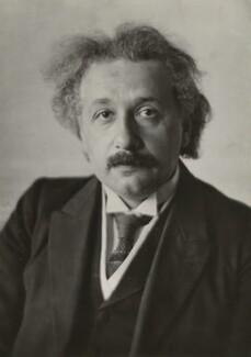Albert Einstein, by Walter Benington, for  Elliott & Fry, 18 May 1928 - NPG  - © National Portrait Gallery, London