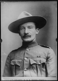 Robert Baden-Powell, by Francis Henry Hart, for  Elliott & Fry - NPG x82301