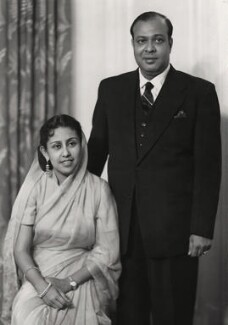 Mohammed Ali with his wife, by Elliott & Fry - NPG x86145