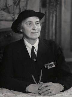 Olave St Clair Baden-Powell (née Soames), Lady Baden-Powell, by Elliott & Fry - NPG x86228