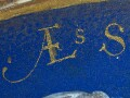 Detail of the skilfully painted inscription.