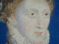Detail of Elizabeth I's face.