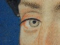 Detail of the right eye, marked out in thin s…